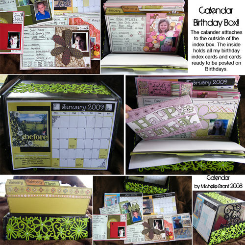 Calendar Birthday Box - by Michelle Grant 2008