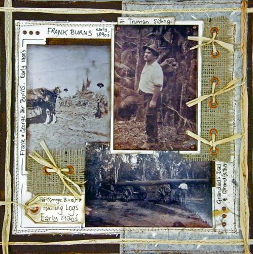 Frank & George Burns Hauling Logs